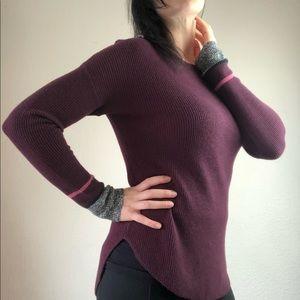 ya caress purple boatneck sweater size small